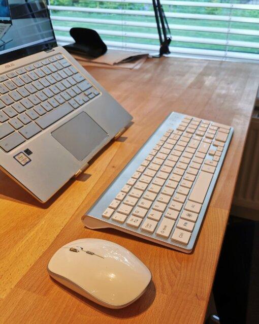 Laptopstandaard en toetsenbord pakket