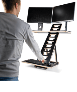 2 monitoren op de zit sta verhoger TRIX XL