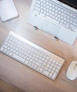 laptoppakket thuiswerk bovenaf