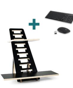 Zit sta verhoger TRIX zwart met toetsenbord en muis zwart