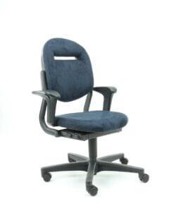 refurbished bureaustoel ahrend blauw zijkant voor 800 1000