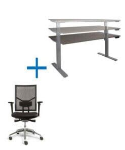 Thuiswerkset Zit sta verhoger en bureaustoel